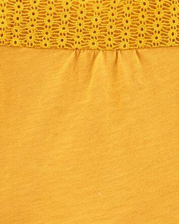 Crocheted Peplum Jersey Top