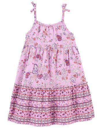 Paisley Floral Linen Dress