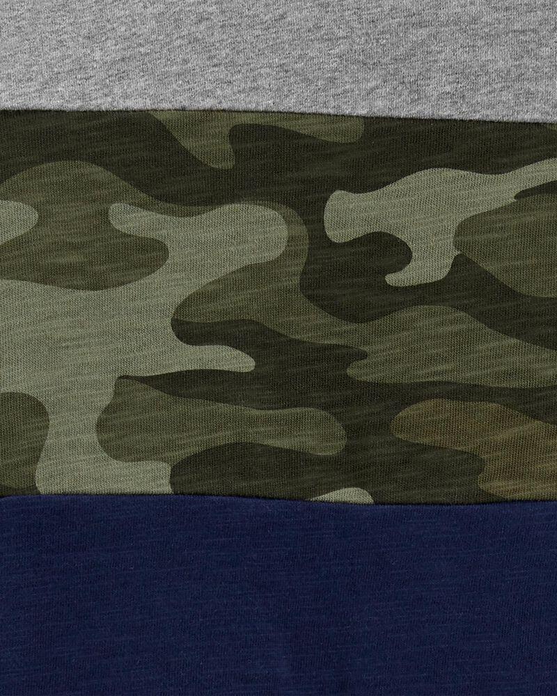 T-shirt en jersey de couleurs contrastantes camouflage, , hi-res