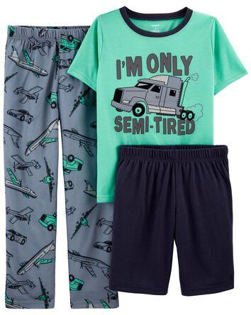 Pyjama 3 pièces de coupe ample à ca...