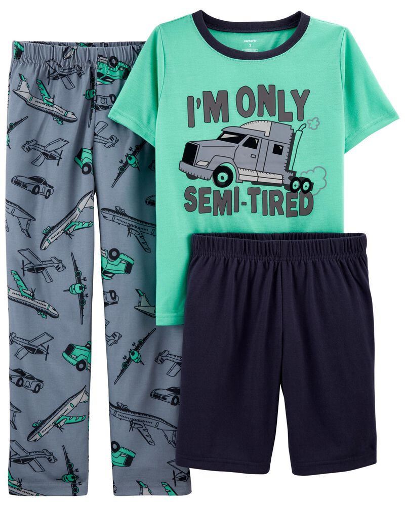 3-Piece Truck Loose Fit PJs, , hi-res