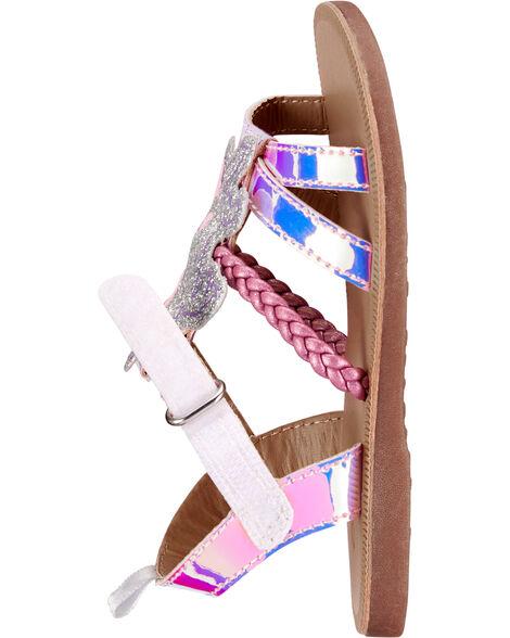 Sandales licorne scintillante