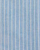 Chambray Stripe Button-Front Shirt, , hi-res