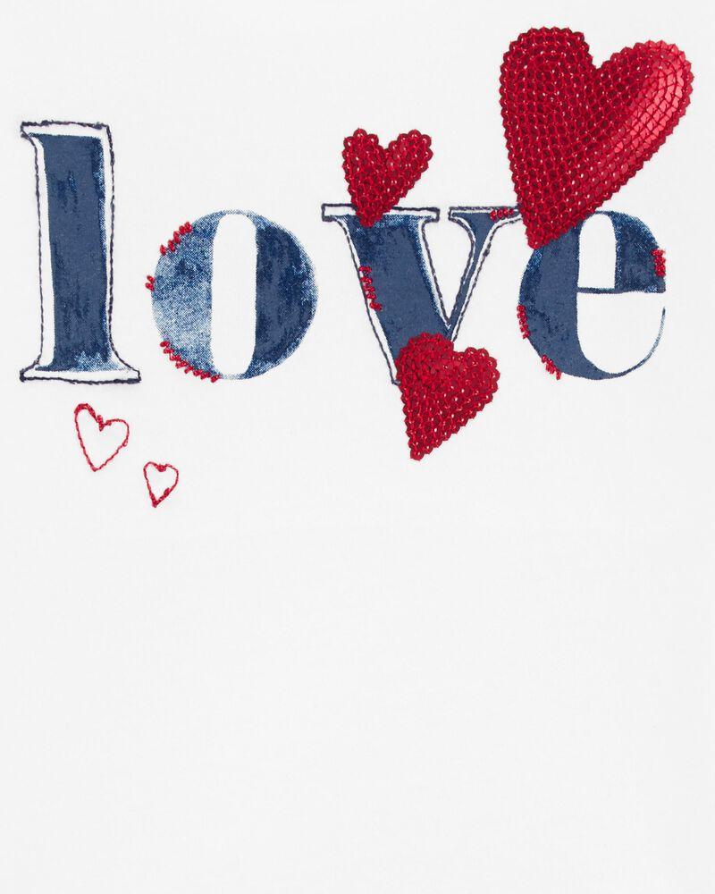 Love Scoop-Neck Tee, , hi-res