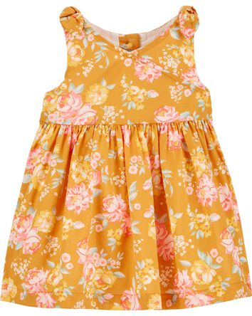 Floral Faux Wrap Dress