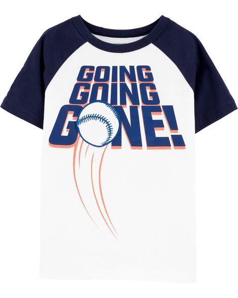 T-shirt en jersey à manches raglan baseball