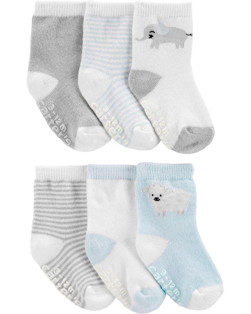 6 paires de chaussettes rayées, , hi-res