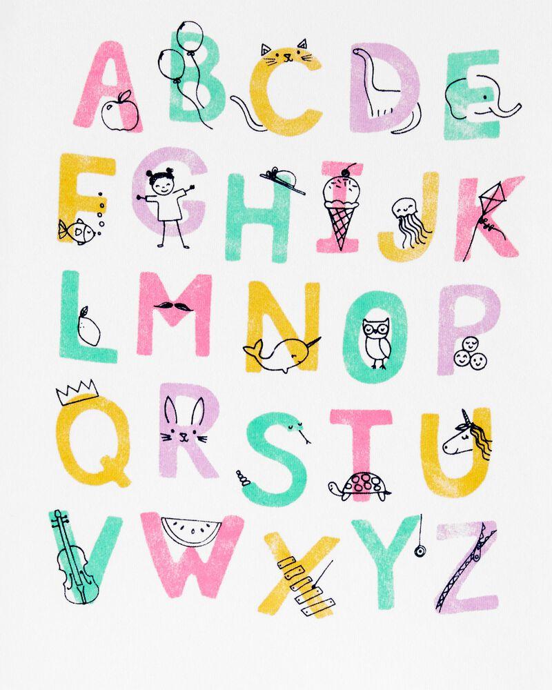 T-shirt en jersey avec alphabet, , hi-res