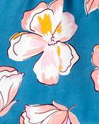 Ensemble 2 pièces haut en popeline fleuri et legging, , hi-res