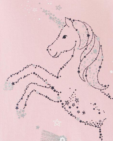 Glitter Unicorn Bow Back Tee