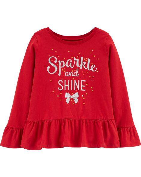 Sparkle And Shine Peplum Top
