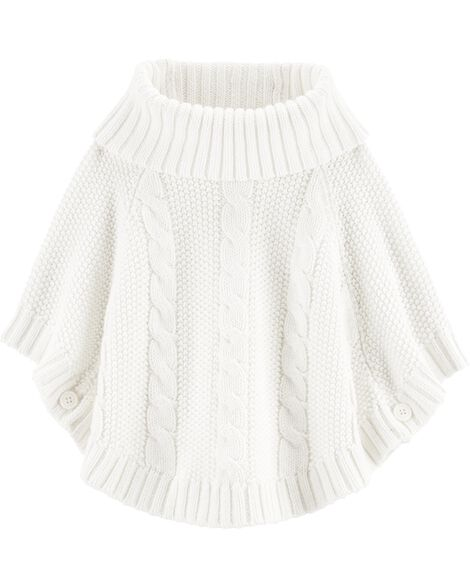 Sparkly Cable Knit Poncho