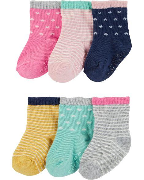 6 paires de chaussettes de marin à cœurs