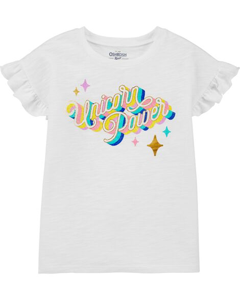 Unicorn Power Ruffle Sleeve Tee