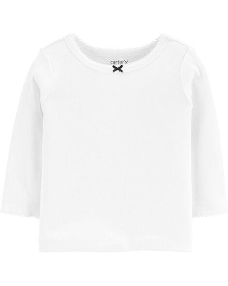 Ensemble 3 pièces t-shirt et robe chasuble à cœur