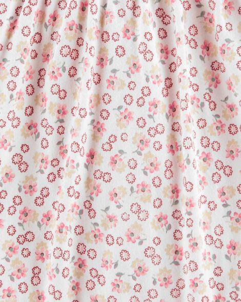 Eyelet Trim Floral Bodysuit