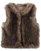Faux Fur Vest, , hi-res