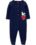 Mouse Snap-Up Cotton Sleep & Play, , hi-res