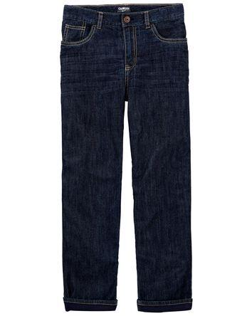 Jeans doublé de micro-molleton - dé...