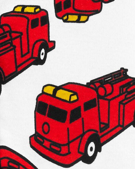 1-Piece Firetruck Snug Fit Cotton Footless PJs