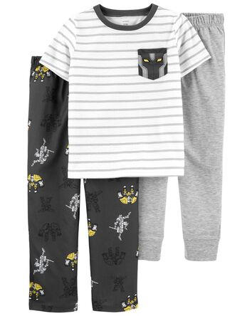 Pyjama 3 pièces de coupe ample à ro...