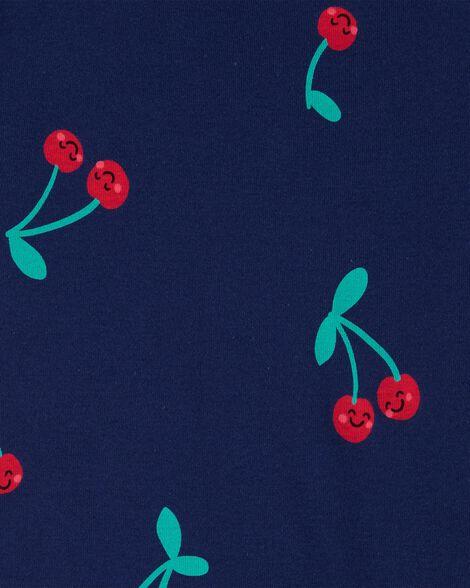 Pyjamas 4 pièces en coton ajusté cerise