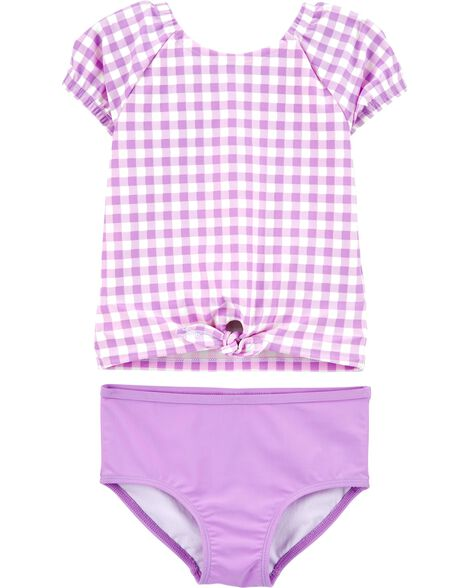 Gingham 2-Piece Rashguard Set