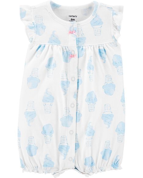 Ice Cream Snap-Up Romper