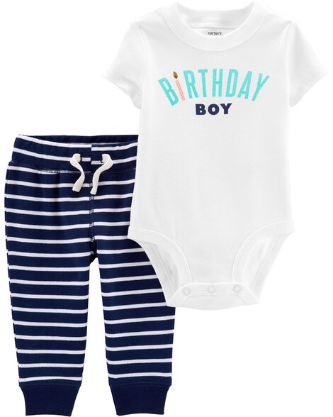 2-Piece Birthday Boy Bodysuit & Pant Set