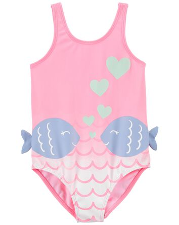 Fish 1-Piece Swimsuit