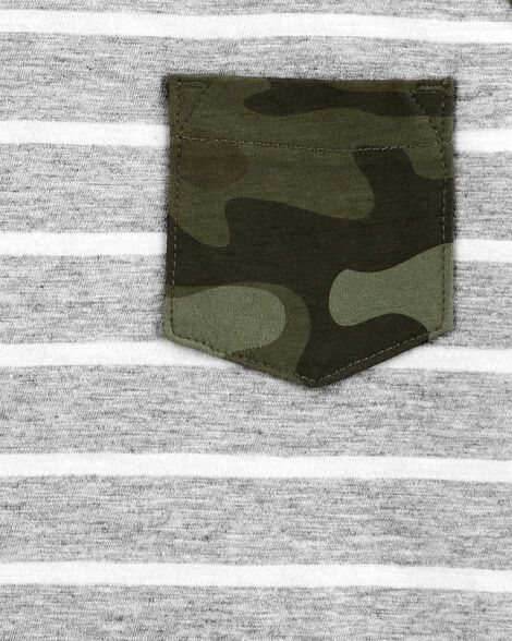 Striped Camo Pocket Jersey Tee