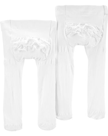2-Pack Ruffle Tights