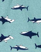 T-shirt henley à requin, , hi-res