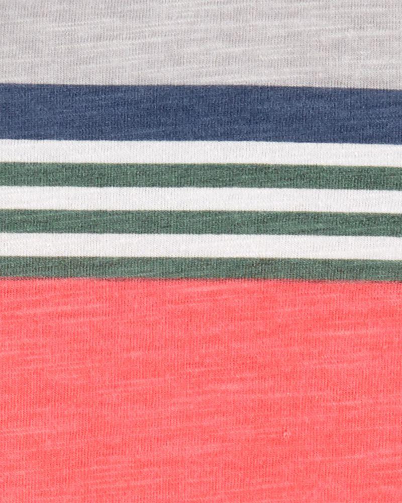 Striped Piqué Slub Henley, , hi-res