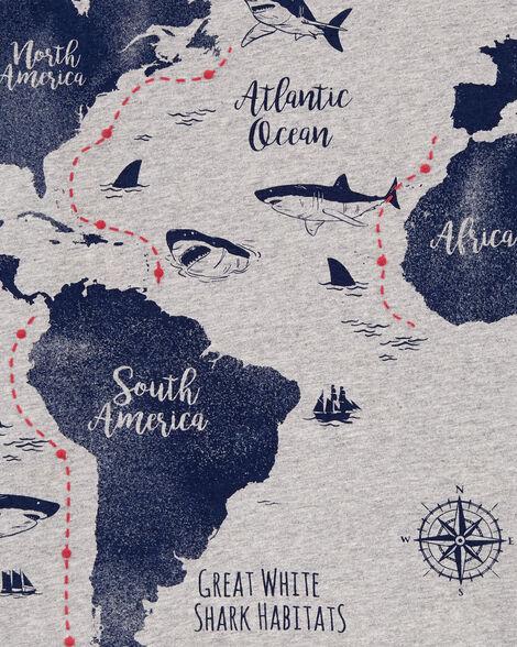 Shark Map Jersey Tee