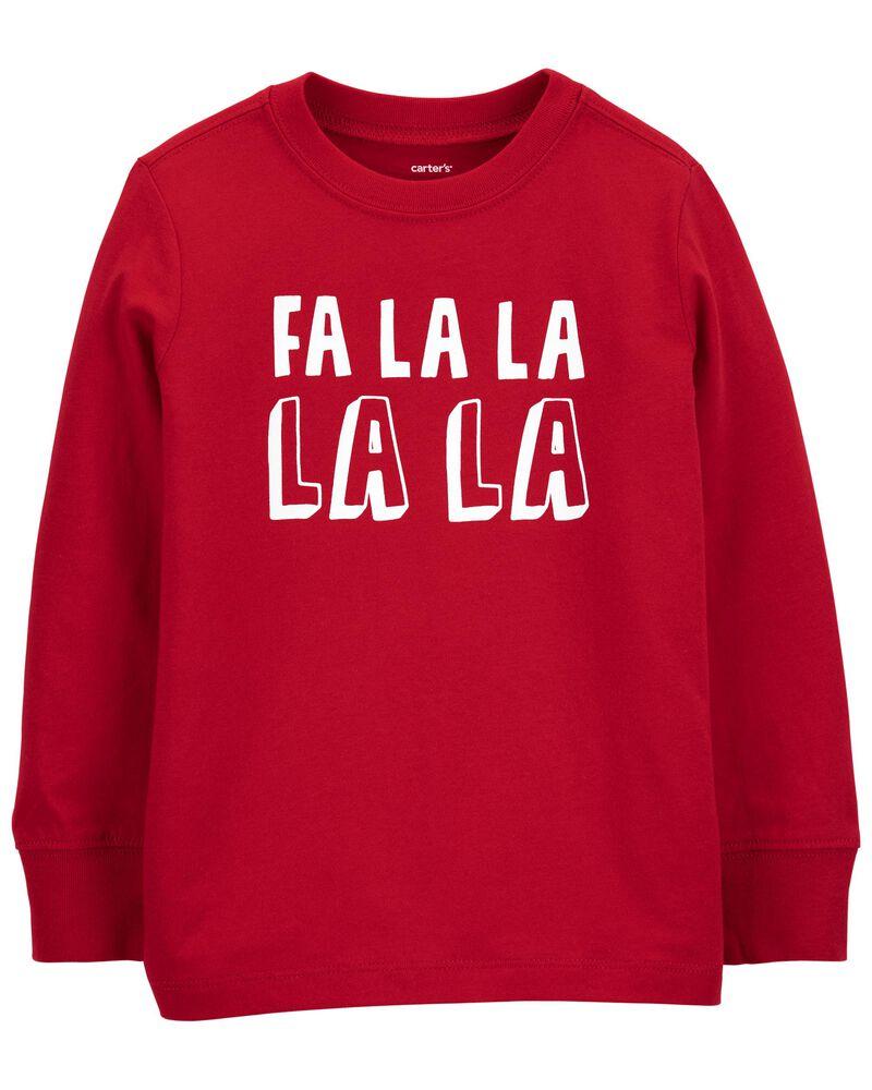 T-shirt en jersey Fa La La des Fêtes, , hi-res