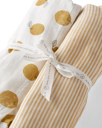 2-Pack Organic Cotton Muslin Receiv...