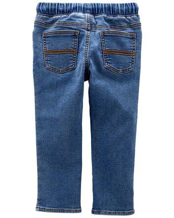 Pantalon en faux denim à enfiler