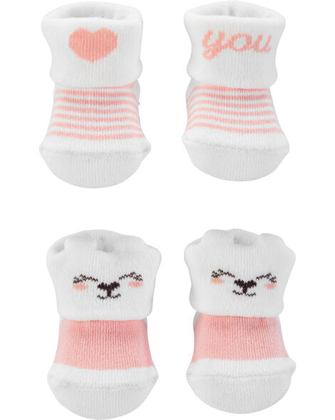 2 paires de chaussons pour bébé
