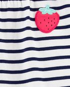 2-Piece Strawberry Tee & Slub Pant Set, , hi-res