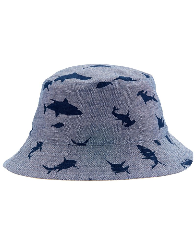 Reversible Shark Bucket Hat, , hi-res