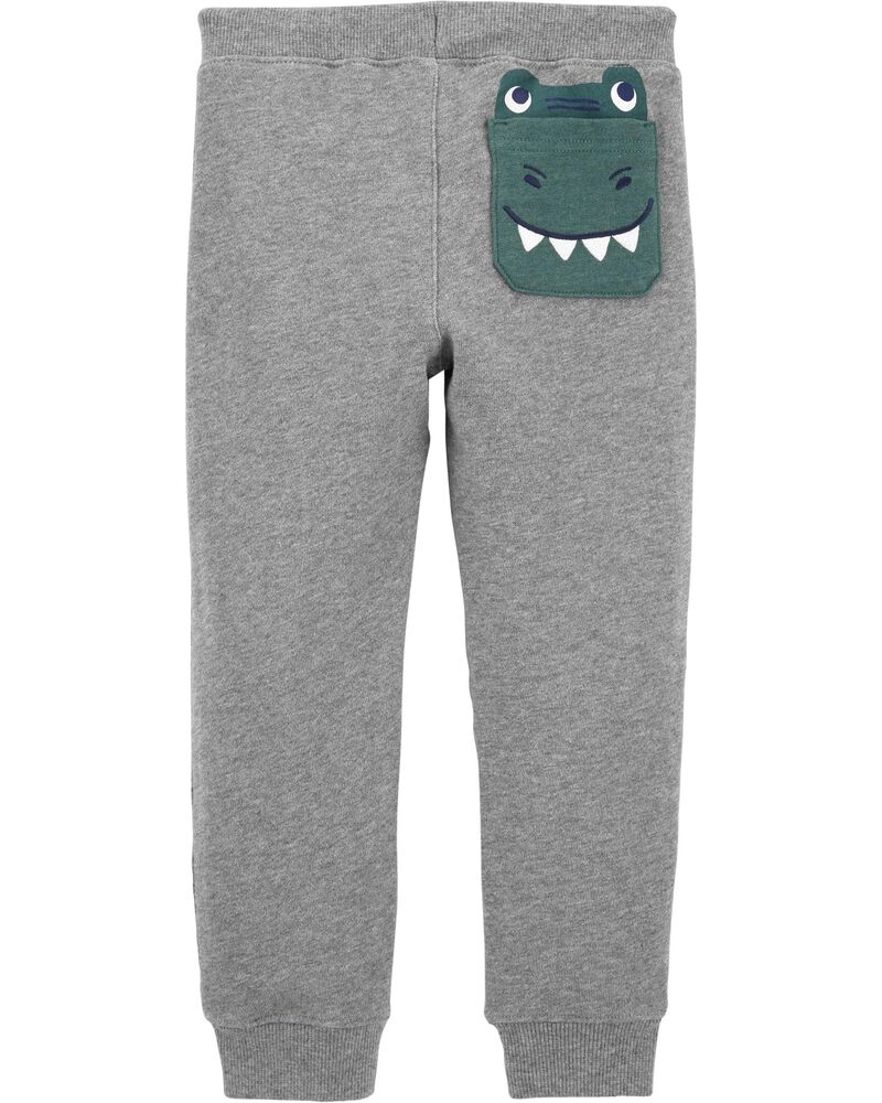 Dinosaur Pull-On French Terry Joggers, , hi-res