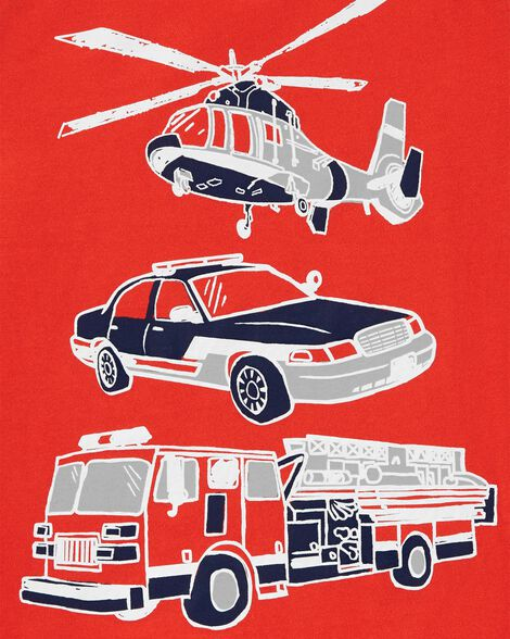 T-shirt à manches raglan à véhicule