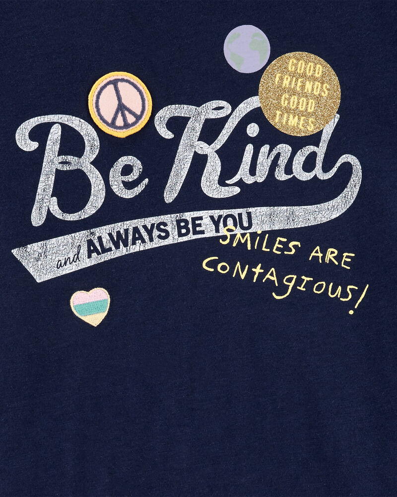 Be Kind Scoop Hem Tee, , hi-res