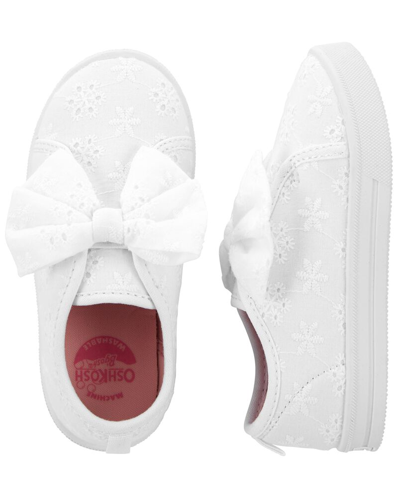 Eyelet Bow Sneakers, , hi-res