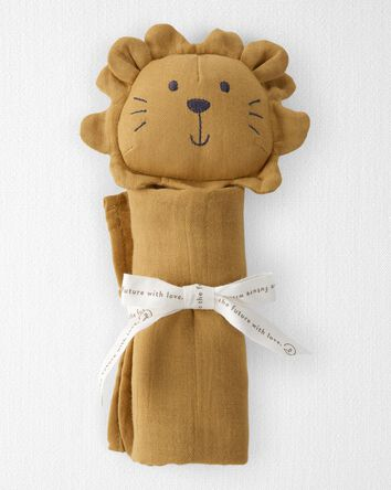 Organic Cotton Muslin Lion Lovie