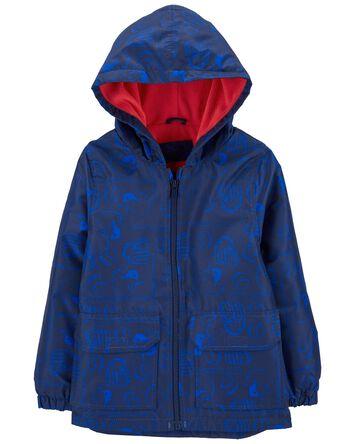 Fleece-Lined Baseball Rain Jacket