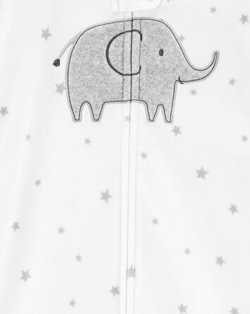 Gigoteuse en molleton à éléphant