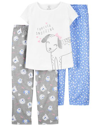 3-Piece Dog Loose Fit PJs