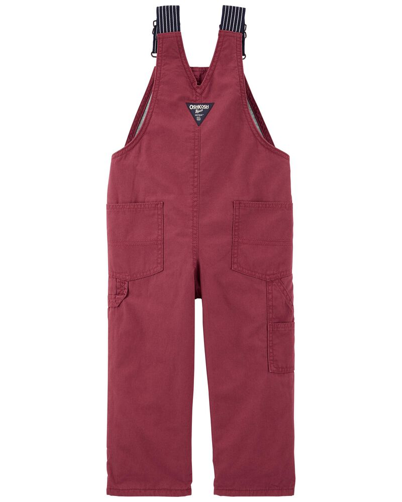 Jersey-Lined Canvas Overalls, , hi-res